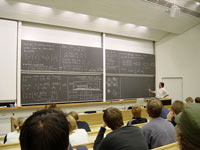 Mathematics lecture at university