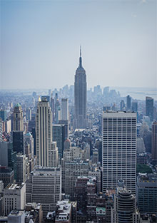 The Empire State Building in New York City, USA