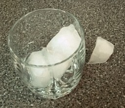 Cut ice cubes in half like magic