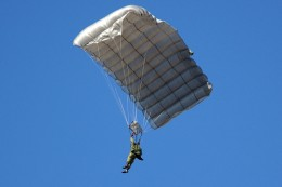 Test your parachute with a small action figure before trying it on a person
