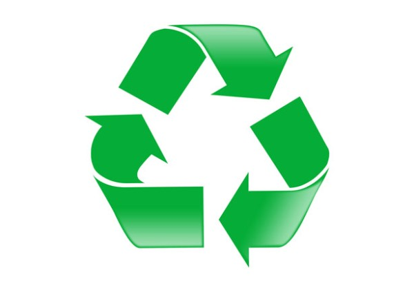 This commonly seen sign shows a well known recycling symbol. In an age when the need to recycle is greater than ever this image is seen in many places all over the world. It features three green arrows which bend backwards forming a free flowing triangle.