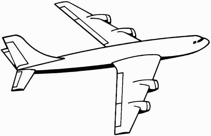 Have fun coloring the wings, body and tail of this large aeroplane as it soars through the sky.
