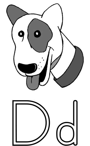 The Letter D Coloring Page For Kids Free Printable Picture D Coloring Pages