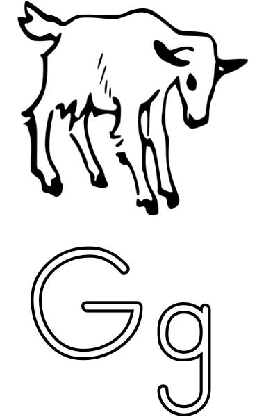photograph relating to Letter G Printable known as The Letter G - Coloring Webpage for Youngsters - Totally free Printable Consider
