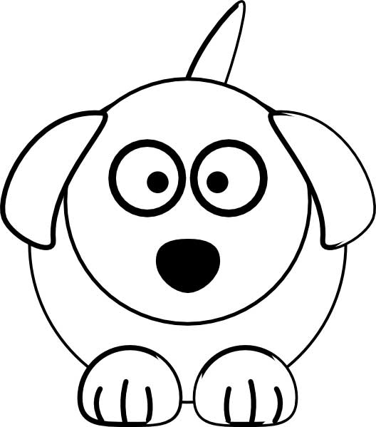 Cute Dog Coloring Page for Kids - Free Printable Picture