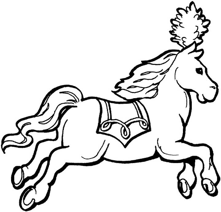 Circus Horse Coloring Page For Kids