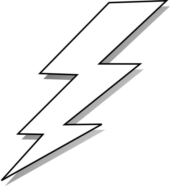 Lightning bolt coloring page for kids free printable picture for Lightning link template