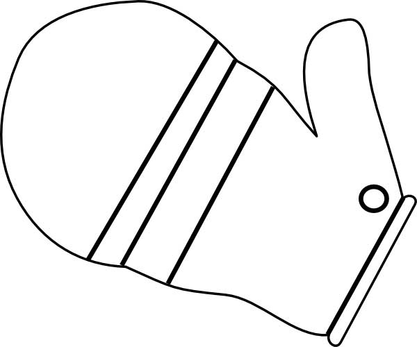 Mitten Coloring Page For Kids