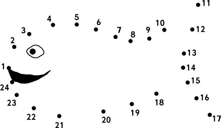 Number Names Worksheets connect the dots worksheets : Fish - Connect the Dots Page for Kids - Printable Worksheet