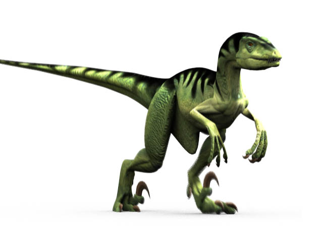 This CGI drawing shows the possible appearance of Deinonychus, a dinosaur from the early Cretaceous Period (around 110 million years ago). Deinonychus was from the same family of dinosaurs as the Velociraptor and its name means 'terrible claw'.