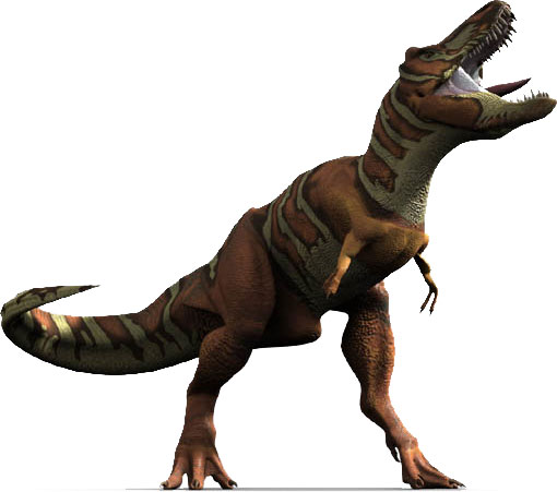 This CGI picture shows a Tyrannosaurus rex in a great pose as it lets out an almighty roar that could no doubt have been easily heard by other dinosaurs.