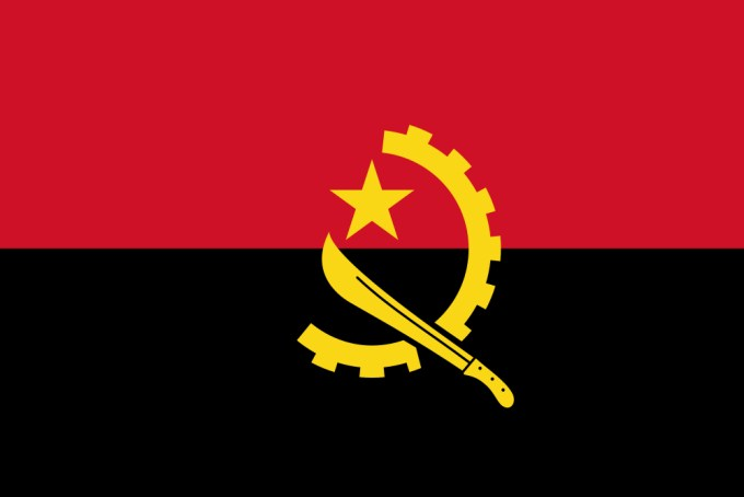 This is the national flag of Angola, a country located in Southern ...
