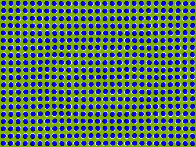 This peripheral drift illusion gives the impression of motion despite the fact that the image is motionless. This is a common type of optical illusion and there are numerous other examples of it in action.
