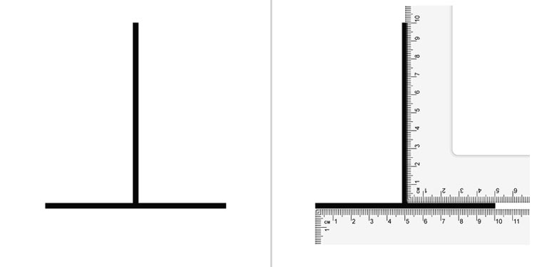 Worksheets Horizontal Line And Vertical Line vertical and horizontal line length illusion pictures images this is a optical the that is
