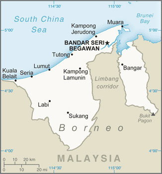 Brunei map