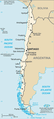 Chile Map With Cities Free Pictures Of Country Maps