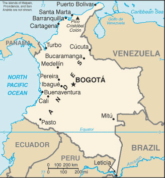 Map Of Colombian Cities Colombia Map with Cities   Free Pictures of Country Maps