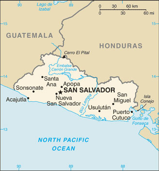 El Salvador Map With Cities Free Pictures Of Country Maps - Cities map el salvador map