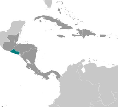 El Salvador location