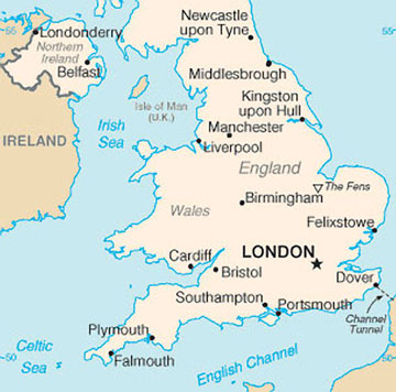 Map Of England With Cities England Map with Cities   Free Pictures of Country Maps