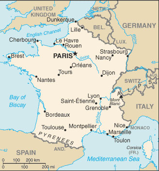 Map Of France Facts.France Map With Cities Free Pictures Of Country Maps