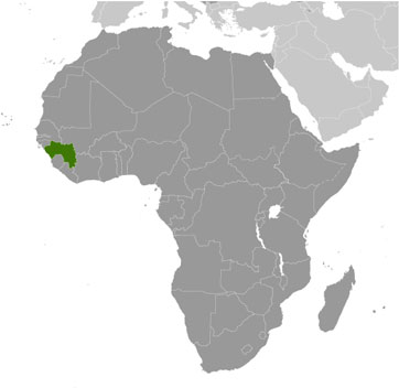 Guinea map with cities free pictures of country maps guinea location publicscrutiny Image collections