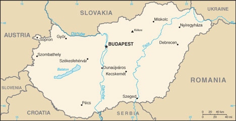 Hungary Map With Cities Free Pictures Of Country Maps - Austria major cities map