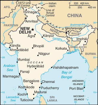 Indian Map With Cities India Map with Cities   Free Pictures of Country Maps