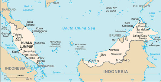 Malaysia Map with Cities Free Pictures of Country Maps