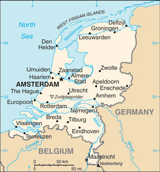Netherlands Map with Cities  Free Pictures of Country Maps