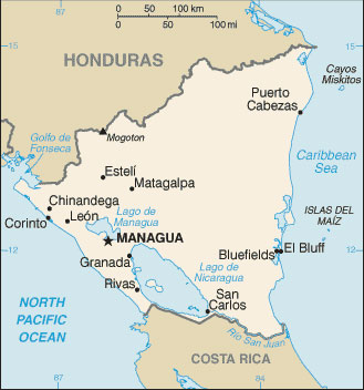 Nicaragua Map With Cities Free Pictures Of Country Maps - Nicaragua political map cities