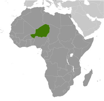 Niger Map with Cities - Free Pictures of Country Maps