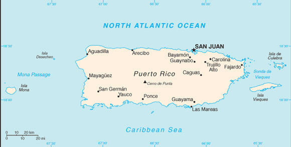 Puerto Rico Map with Cities - Free Pictures of Country Maps