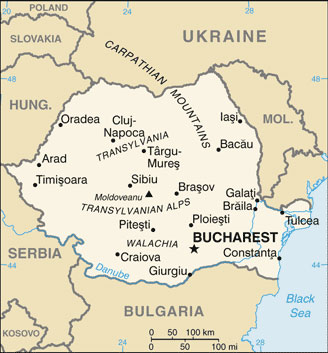 Romania map with cities free pictures of country maps romania map gumiabroncs Image collections