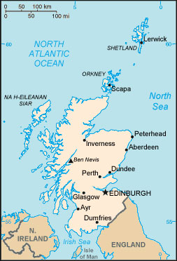 Scotland Map with Cities - Free Pictures of Country Maps