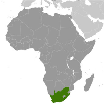 South Africa location