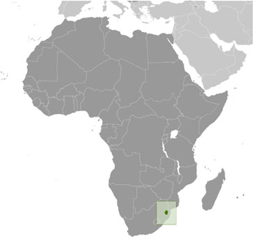 Swaziland location