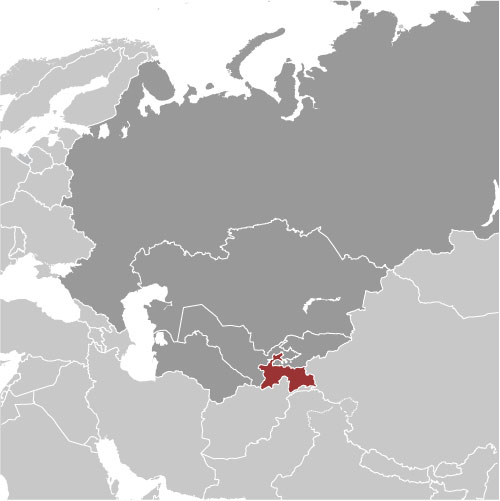 Tajikistan location