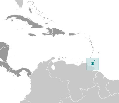 Trinidad and Tobago location