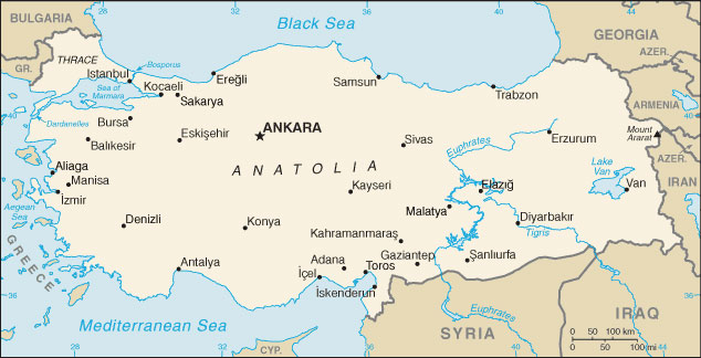 Turkey map with cities free pictures of country maps turkey map gumiabroncs Gallery
