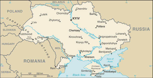 Ukraine Map with Cities Free Pictures of Country Maps