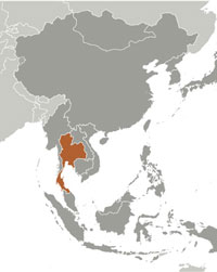 Thailand has a land border with 4 countries including myanmar