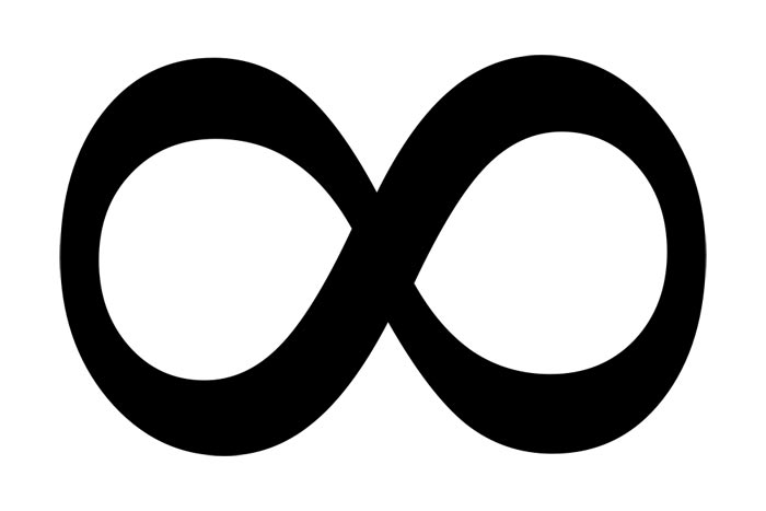 This picture shows the infinity symbol. It is believed to have been introduced by an English mathematician named John Wallis in 1655.