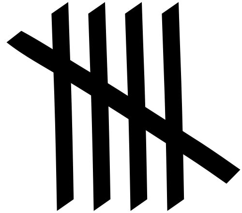 This picture shows five tally marks. Tally marks are used as a form of counting and are useful for writing results without having to erase information.