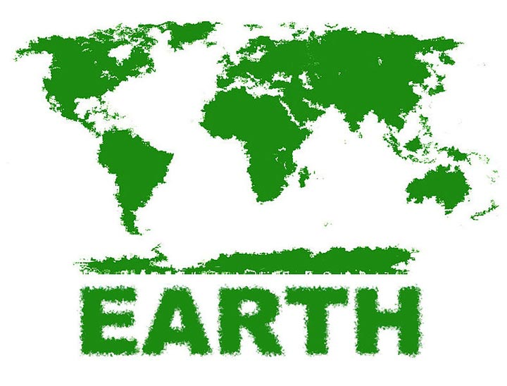 This picture helps celebrate Earth Day by recreating a world map with a theme based around trees and a green, natural image. Earth Day is held every year on April 22 to help promote environmental awareness.