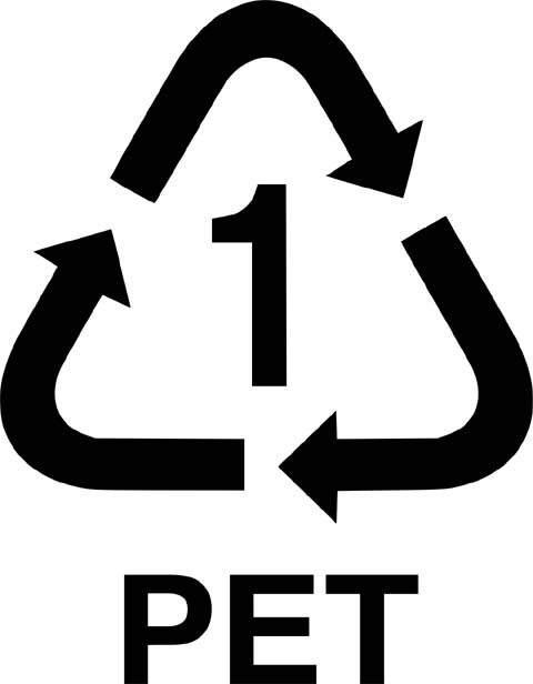 This is the recycling symbol for PET (Polyethylene Terephthalate). PET is commonly used in the manufacturing of bottles.