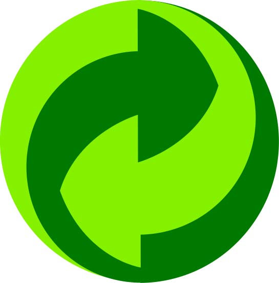 This image is a recycling logo used in Germany.