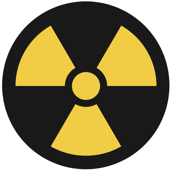 This is a well known symbol representing some kind of nuclear activity or material. This nuclear symbol is often seen on warning signs, especially near reactors and dangerous nuclear facilities.