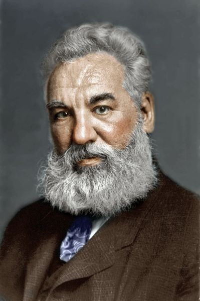 A photo of Alexander Graham Bell, a famous scientist and inventor well known for making the first practical telephone.
