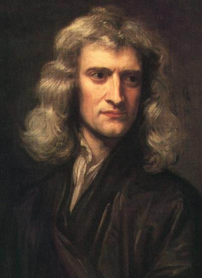 This image is of Isaac Newton, one of the most famous scientists of all time.